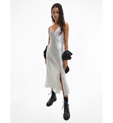 Vestido-lencero-de-saten-metalico-Calvin-Klein