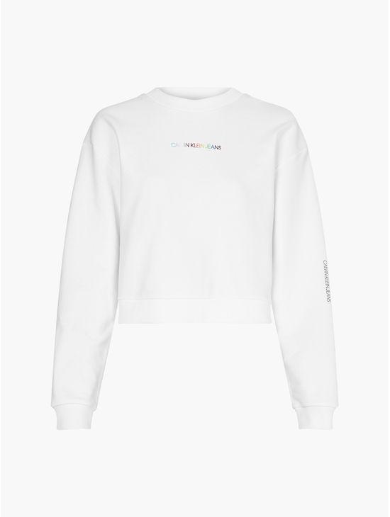Sudadera-de-algodon-organico-con-logo---Pride-Calvin-Klein