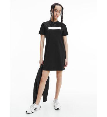 Vestido-con-logo-grabado-Calvin-Klein