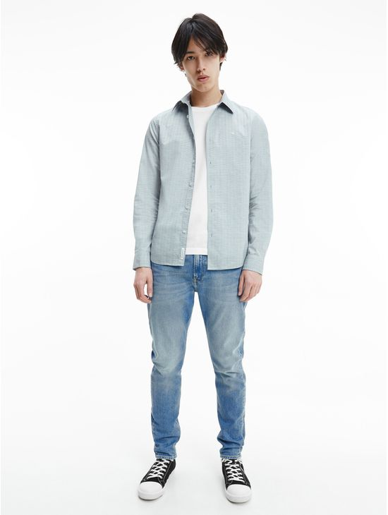 Camisa-slim-de-dobby-de-algodon-Calvin-Klein