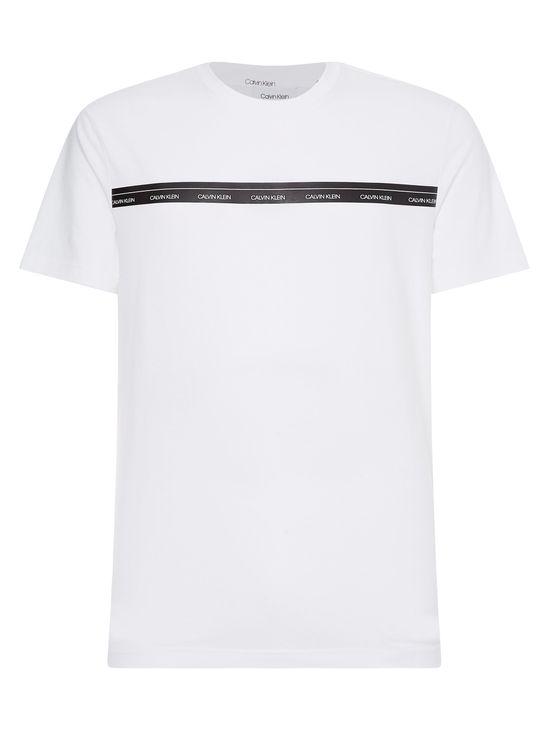 Playera-de-algodon-organico-con-linea-y-logotipo--Calvin-Klein