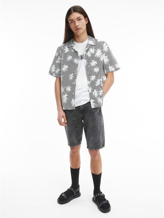 Camisa-de-manga-corta-estampada-Calvin-Klein